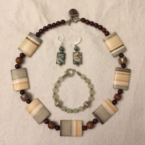 Jasper earring / necklace / bracelet jewelry