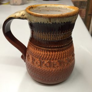 Cool design mug pottery