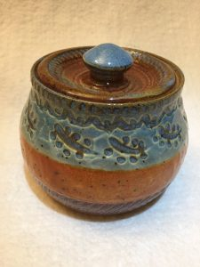Sugar or spice container pottery