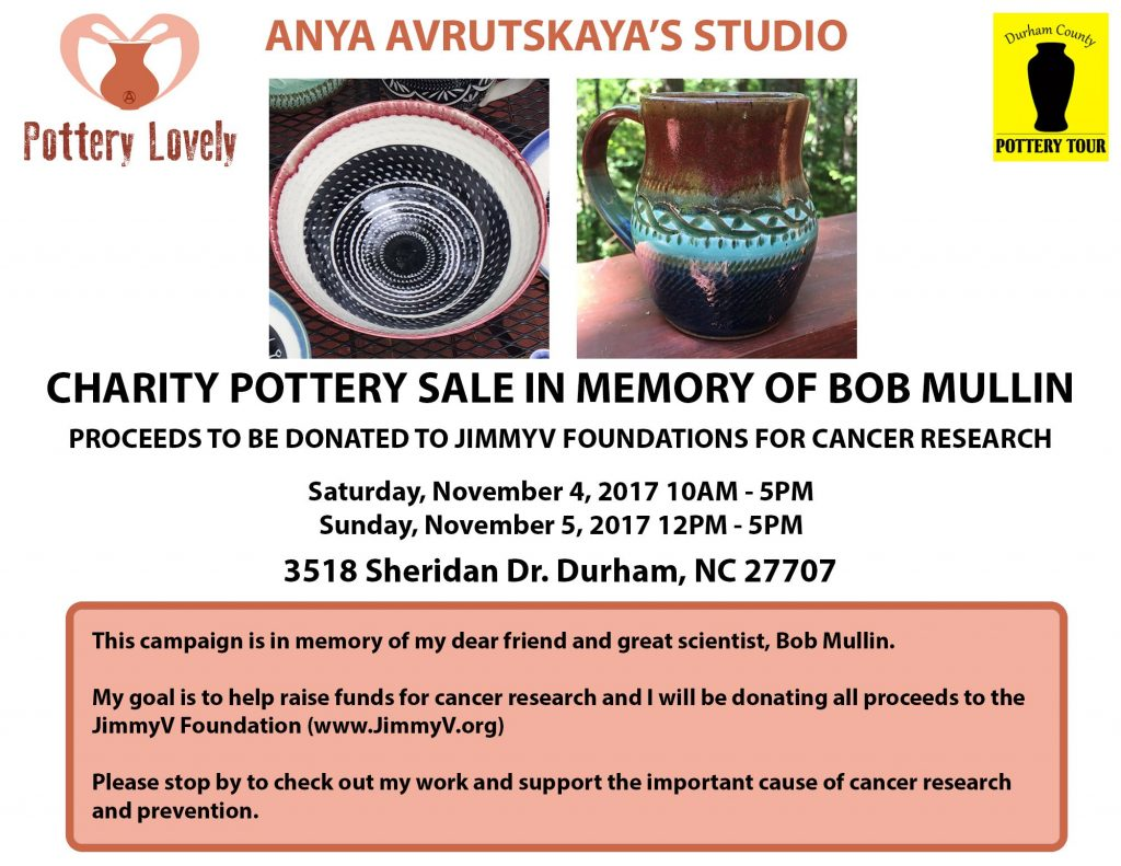 Charity Pottery Sale - Memory Bob Mullin